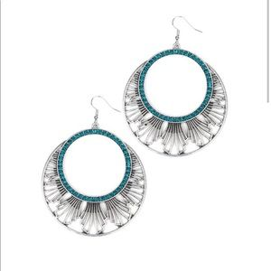 Mod Mood - Blue Earrings